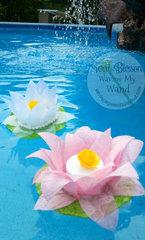 Finalist entry for May Arts Ribbon Design Team- Floating Lotus Ribbon Flower lights