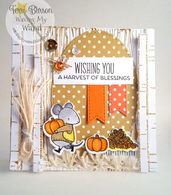 Harvest Mouse Blessings with MFT Stamps and Echo Park Paper