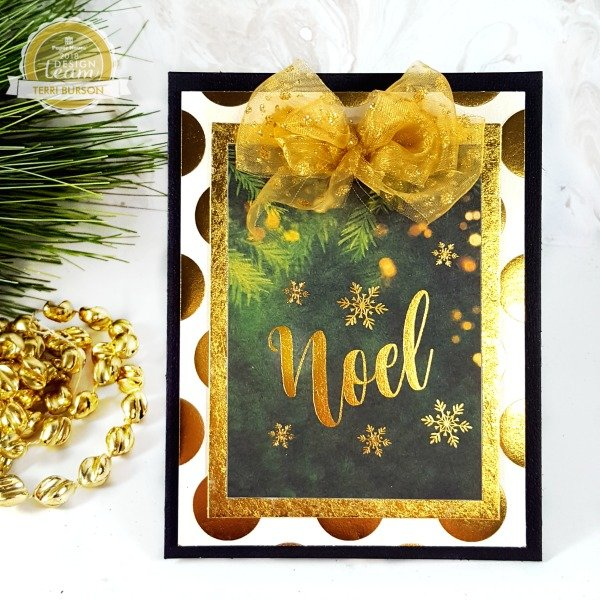 Noel Gold Foiled Card