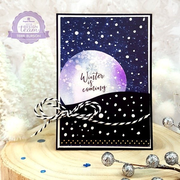 Winter Night Sky card