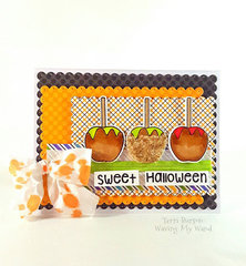 Guest Designer for Pink & Main - Caramel Apples Card