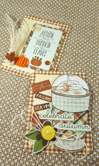 Pumpkin Spice and Autumn Pocket Style Cards