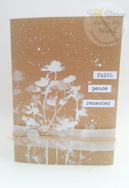 Stenciled Sympathy Card featuring Ranger and Tim Holtz