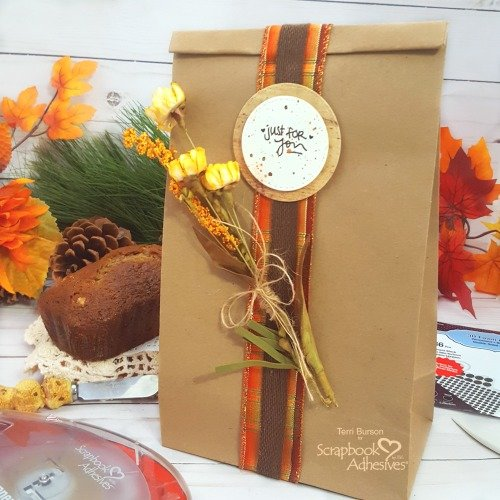 Decorative Fall Gift Bag for Food Gifts