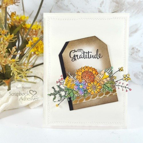 Gratitude Fall Bouquet Card with Patterned Foil Accent