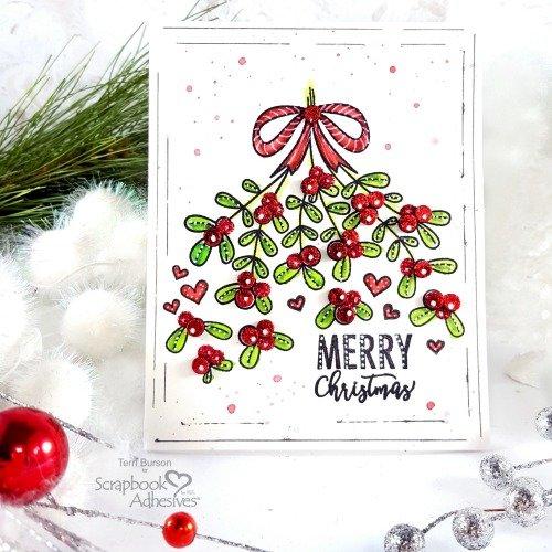 Mistletoe Christmas - Coloring, Foil & Glitter
