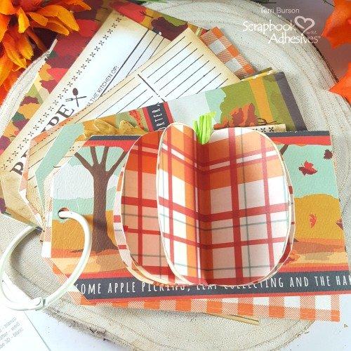 Autumn Recipe Mini Tag Album