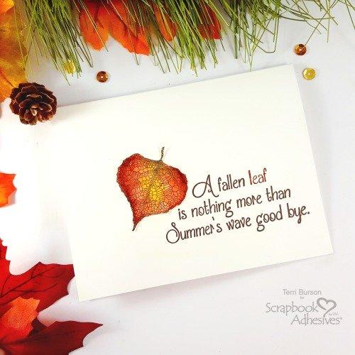 Fallen Leaf Card