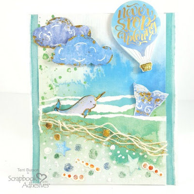 Narwhal Scenic Summer Card