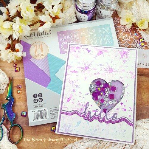 Tonic Studios Dream in Colour Shaker Card + Bonus