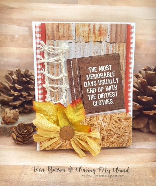 Rustic, Card featuring Kaisercraft Old Mac for 12 Days of Christmas Freebie