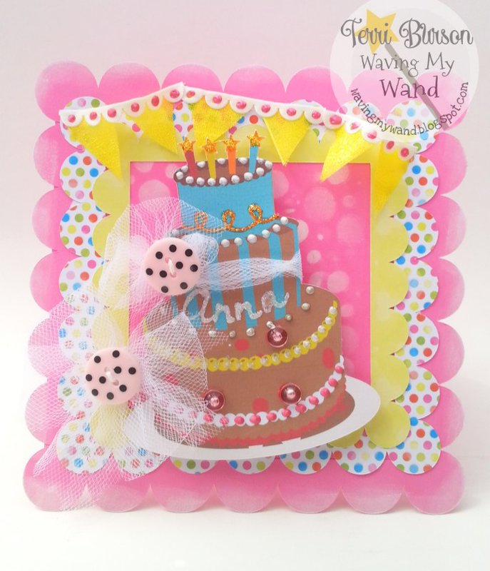 Birthday Cake Card Featuring DCWV