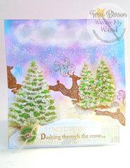 Prancing Reindeer Christmas Card