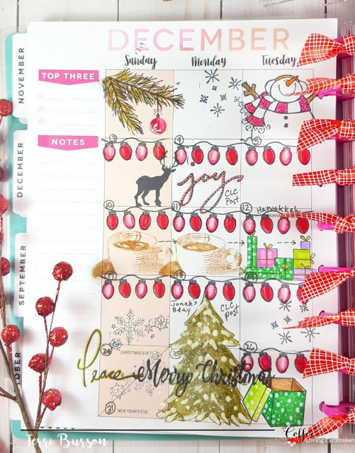 December Planner Layout - Christmas & Coffee