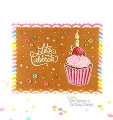 Strawberry Cupcake Celebration Card