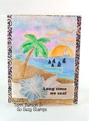 Beachy Shark card