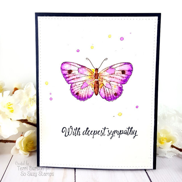 Watercolored Sympathy Card