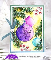 Christmas Card with Zig coloring