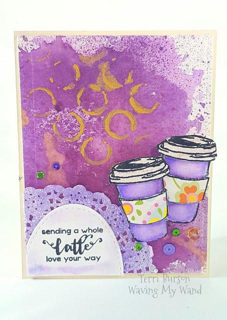 Mixed Media Coffee Card