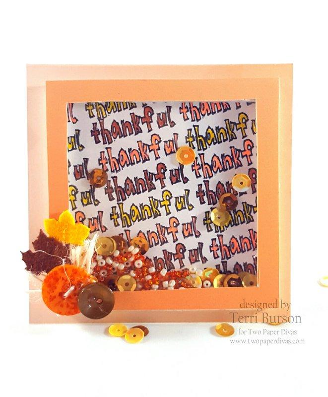 Mini Thankful Shaker Card