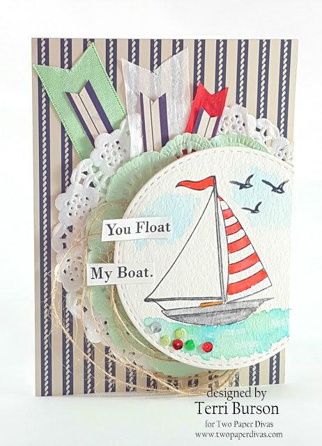 Watercolored Sailboat