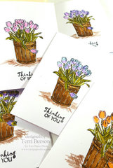 Coloring Multiple Cards with TPD Stamps and Tombow