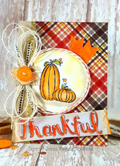 Thankful Card with Unity Stamps and Tombow
