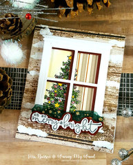 Christmas Window Scene Card + Enter to Win!