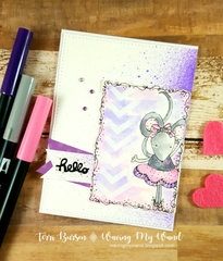 Coloring with Adornit and Tombow - Sweet Animals Card
