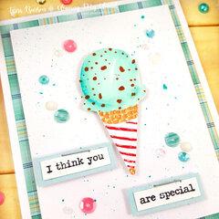Hand Drawn Ice Cream Card