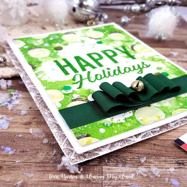 Christmas Mixed Media Card featuring Ranger Ink & Freebie