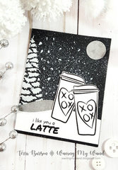 Monochromatic Card for Winter Coffee Loving Cardmakers Blog Hop