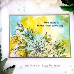 Encouragement Smooshed Ink Card featuring Catherine Pooler Ink