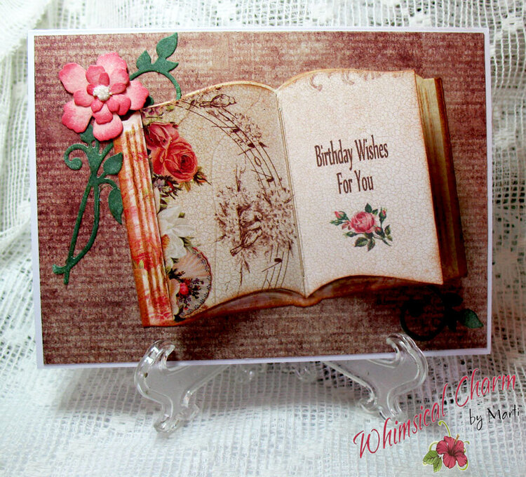 open book birthday card