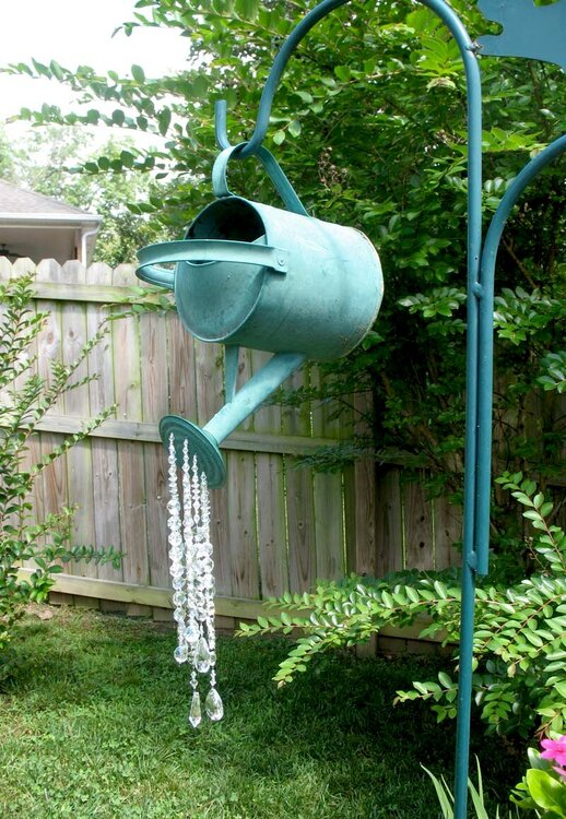 Beaded Watering Can