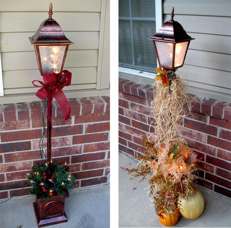 Seasonal Lamp Post
