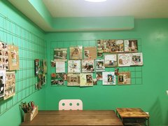 My mint green scrap room