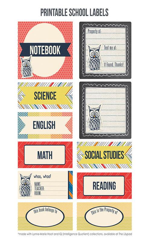 Printable School Labels