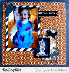 Halloween Layout Featuring Little Ms. Sulley