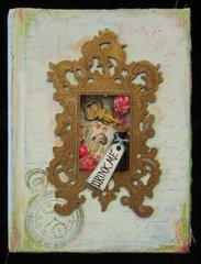 Alice In Wonderland altered book cover