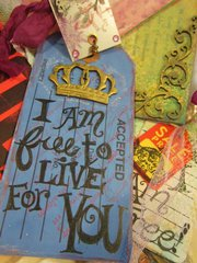 I am free--hand bound book with tag booklets