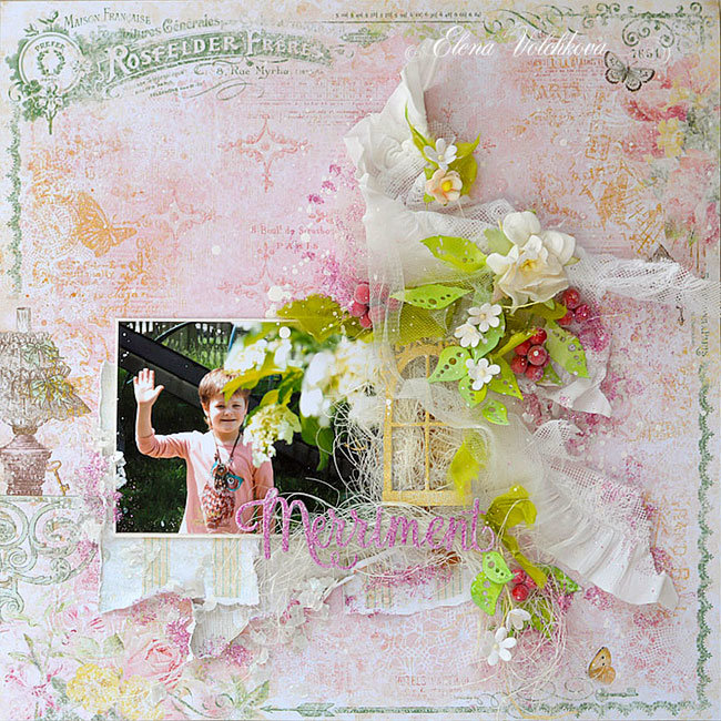 "Blue Fern Studios - ""In the Garden"" layout"