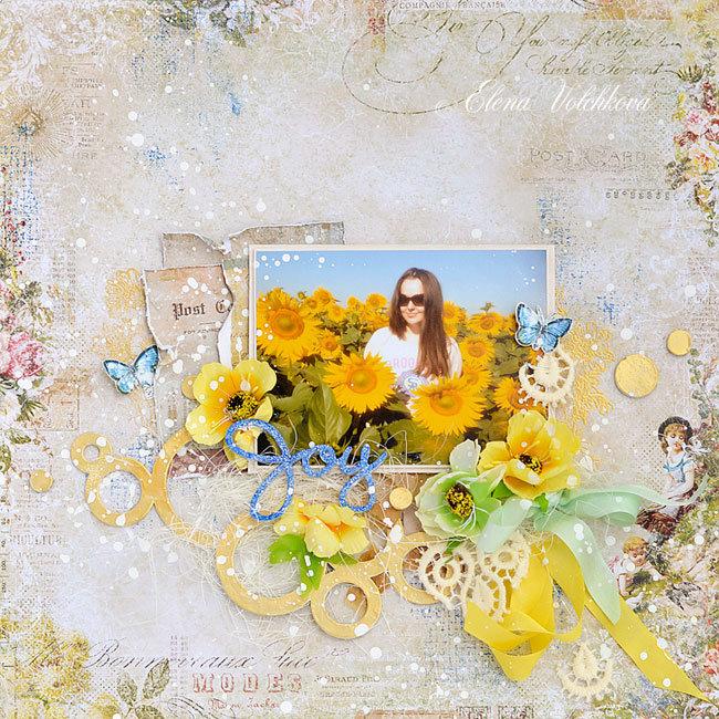 "Blue Fern Studios - ""Sunflowers"" layout"