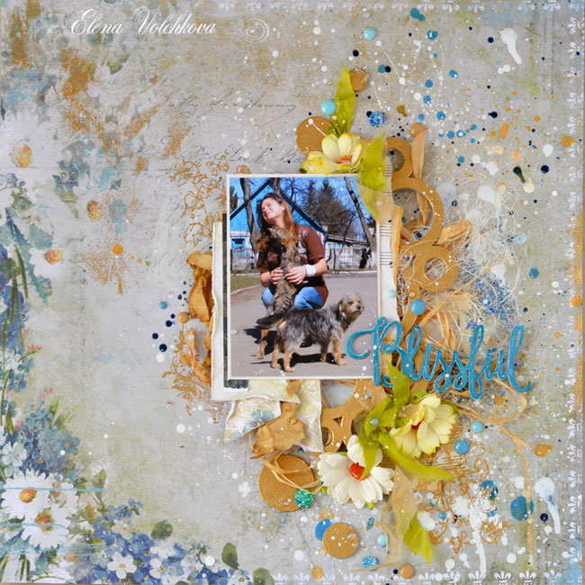 "Blue Fern Studios -  ""The charm of country life"" layout"