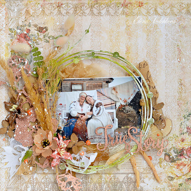 """Blue Fern Studios - """"The story of one family"""" layout"""