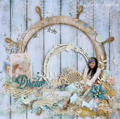 "Blue Fern Studios - ""Mermaid"" layout"