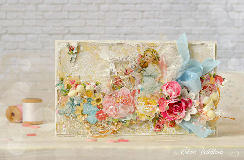 "Blue Fern Studios - Romantic card ""Music of love"""