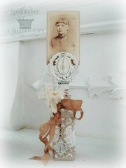 Altered Bottle Photo Holder by Kimberly Laws
