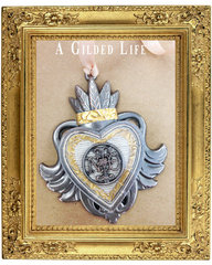 Flaming Heart Necklace featuring A Gilded Life for Spellbinders