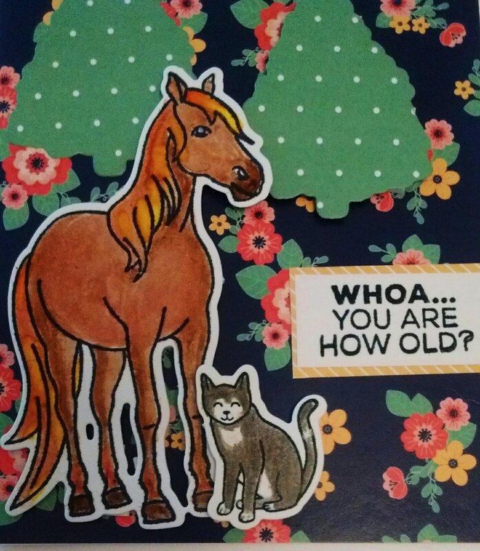 Hanna The Horse Birthday Card